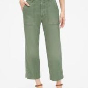 GAP | High Rise Straight Crop Chinos Green 20